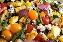 Oppskrifter på salater.
