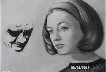 portreler / karakalem portreler