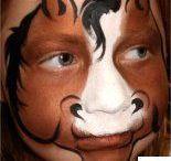 horse face paint