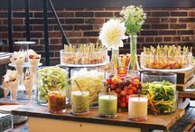 Food & Fete Display / Food presentation at a party is key. It serves as extra decor but must also be functional for guests!