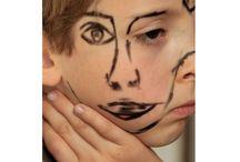 """Doublefaced 2013 by Sebastian Bieniek (B1EN1EK) / """"Doublefaced 2013"""", series of photographs by Sebastian Bieniek (B1EN1EK) More ➔ https://www.b1en1ek.com/works/face-paint/2013-doublefaced/"""