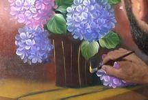 Vídeo de pintura em tecido