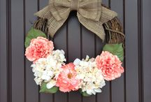 Knock, Knock! / Wreaths galore!  / by Britton @ My Big, Beautiful, Life