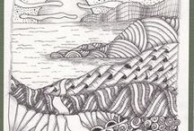 Zentangles Landscapes/Flowers / by Linda McClure