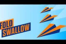 FoldSwallow / Mobilní hra, skládání a házení vlaštovkou, soutěže a turnaje o ceny