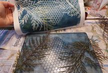 Gelli plate prints