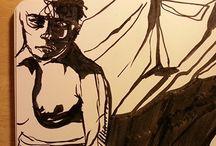 moleskine drawings