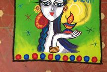 Rangoli and paintings