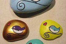 Painted rocks / Gepimpte stenen