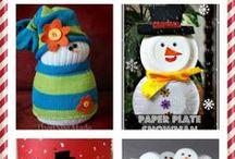 Roční období - zima - sněhuláci / Výrobky a nápady na aktivity se sněhuláky