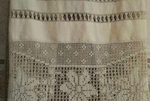 Mis trabajos ( puntillas, bordados, piezas de ceramica y flores secas