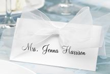 Place cards, table plan
