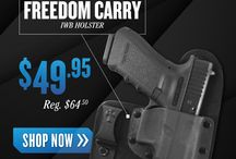 Holsters / Find out ways to carry that all important firearm after you decide which one will protect you or work for your needs.