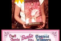 Monthly Barbie Doll Contest / Every month The Doll Genie ( www.dollgenie.com ) has a barbie Doll Contest where one lucky winner gets a Free Barbie Doll. You can join our Free Magic Carpet Club and enter the contest daily!