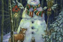 Snowmen and ladies / by Peg Barker