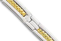 SILVER, GOLD and STAINLESS STEEL BRACELETS / Bracelets for men and women made out of stainless steel, rubber, silver, sterling silver and gold. Diamond bracelets also available.