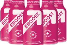 Shop the BOOST / What started as a celebrity secret for A-listers like Madonna, Shakira, Oprah Winfrey and Amar'e Stoudemire is now a necessity for the multi-tasking generation. We took the time to formulate a multi-purpose product that really works so you don't have to waste time with mediocre products.  Get your BOOST with the convenience of a shot, or an easy-to-mix powder packet in four delicious flavors:  SuperBerry, Orange, Pink Lemonade and Acai Pomegranate. EBOOST: the healthy energy drink mix! / by EBOOST