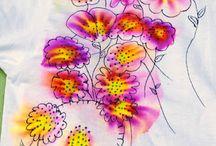 farbowanie/malowanie tkanin