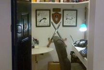 Closet Writing Office / A pictorial exploration of the closet office as a work of art. :o)  #writing #amwriting