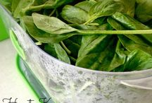 Storing spinach