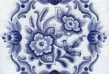 BLUE EMBROIDERY DESIGNS
