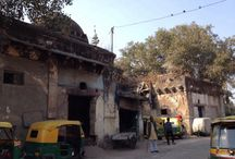 U shaped mosque on Qutub Road, Opp Nabi Kareem police station, Delhi / U-Shaped Building (a.k.a. what's left of one of the Seven Glorious Mosques of of Firoz Shah's Wazir Khan Jahan)