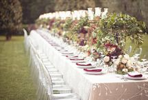 Wedding table inspiration / setting the tables