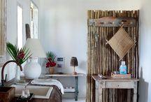 Banheiros rusticos
