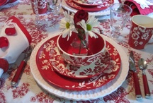 Red & White Dishes