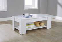 Wooden Coffee Table White Storage Unit Home Furniture Shelf Tea Lifting Lid Oak