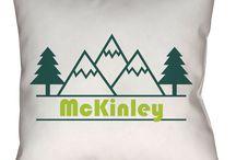 McKinley, Alaska Throw Pillows