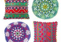 mexican fabric/cushions