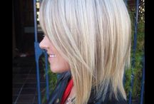 Blonde with Highlights / A very light blonde with lighter shades like honey, beige, caramel tones, a soft multi tonal blondes.