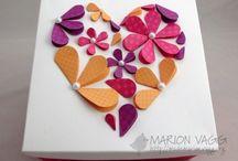 knutsels  / hartjes ♥ bloemetjes ♥ knippen ♥ plakken ♥ papier