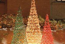árvores de natal para decoração em linha ou arame