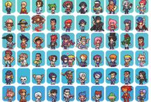 Anime sprites / by Angela Wall