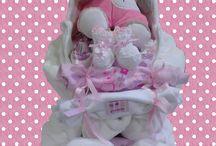 philomelas diaper cakes / my diaper cakes!!!
