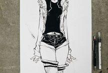 pen drawings and drawings