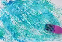 festés gyerekekkel / különböző technikák