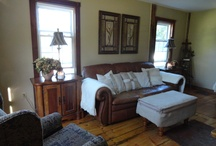 Brown Leather Living Room / by Gloria McMahon