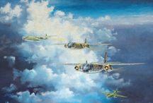 Luftfahrtkunst, Aviation Art / Original gemalte Bilder mit Flugzeugmotiven aus der Luftfahrtkunst von Stefan Stein (zu verkaufen)