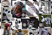 Zebre - Zebras Crochet