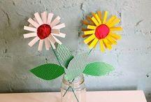 Papieren bloemen / Papieren bloemen knutselen