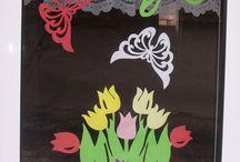 szablon motyle i kwiaty