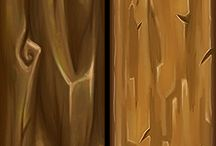 Hand Painted Textures - Wood / Wood stuff