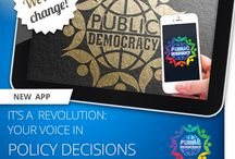 Public-Democracy / Downloadable App for Politicians-voters, Groups-Members. Direct feedback, low-cost instant polls on phones & pads for responsive, effective, accountable government