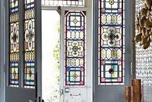 Make an entrance! / Lovely leaded lights and stained glass doors