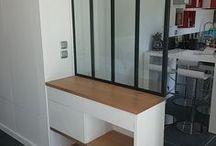 Verrière + meuble de rangement