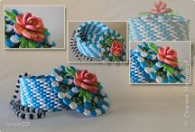 Quilled boxes and bowls