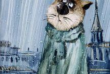 Famous cats of Anatoly Yarishkin